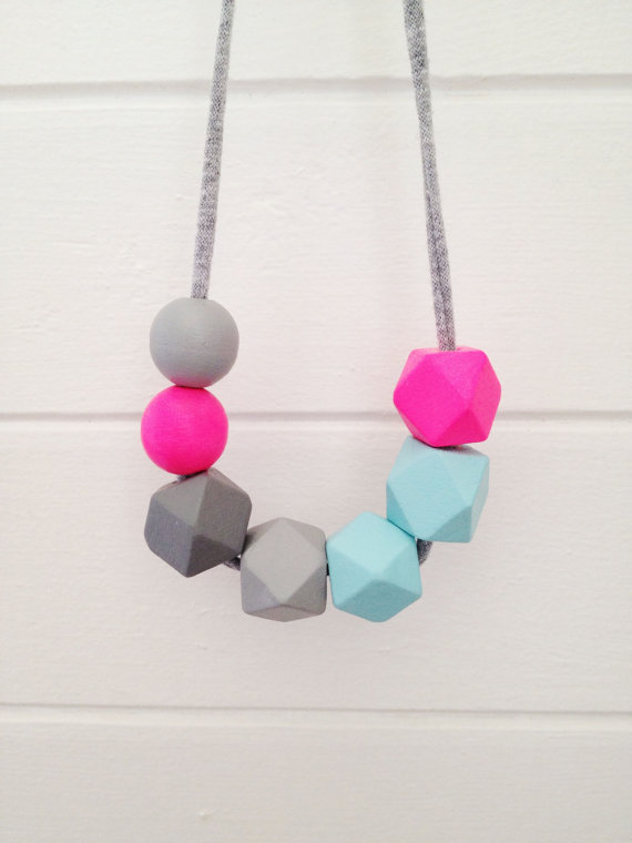 Hello Creative Family Coral + Cloud necklace