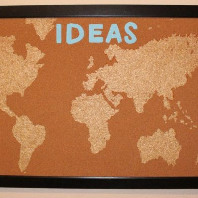 HCF Featured Craft of the Week- DIY Cork Board Map from Love Joy Glitter