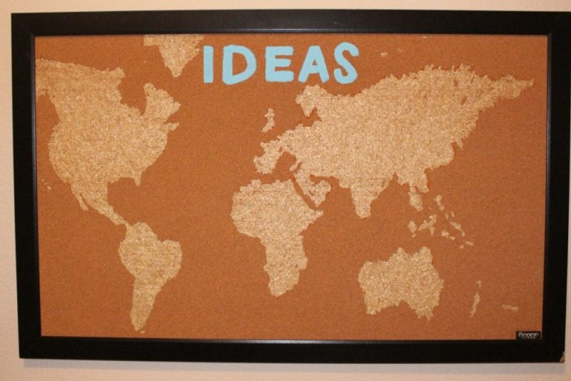 Hcf featured craft of the week diy cork board map from love joy hcf featured craft of the week diy cork board map from love joy glitter hello creative family gumiabroncs Images