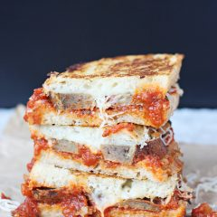 HCF Featured Recipe of the Week- Meatball Marinara Grilled Cheese Sandwich from Is This Really My Life