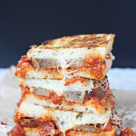 Hello Creative Family Featured Recipe of the Week- Meatball Marinara Grilled Cheese Sandwich from Emily at Is This Really My Life