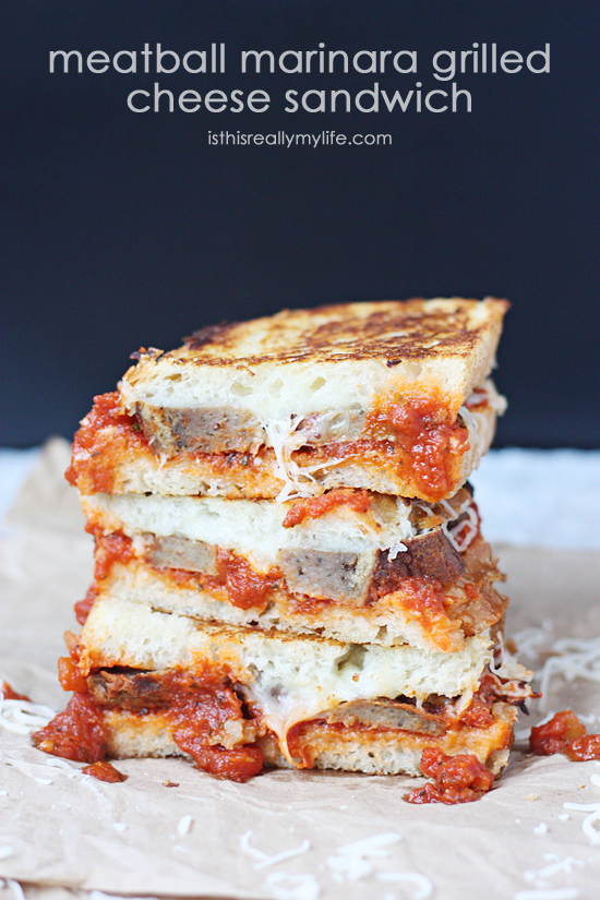 HCF Featured Recipe of the Week- Meatball Marinara Grilled Cheese ...