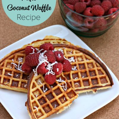 Hello Creative Family shares their paleo coconut waffle recipe along with variations to dress it up. This delicious recipe uses coconut flour and almond flour.