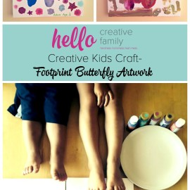 I adore handprint and footprint artwork. This butterfly footprint kids craft from Hello Creative Family would make a great mother's day or father's day gift