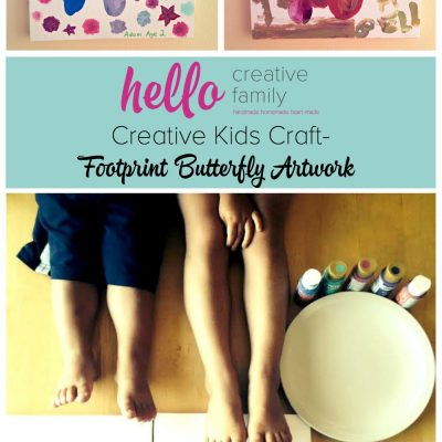 Creative Kids Craft- Footprint Butterfly Artwork