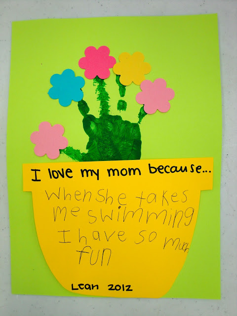Mother's Day Flower Pot Handprint Card