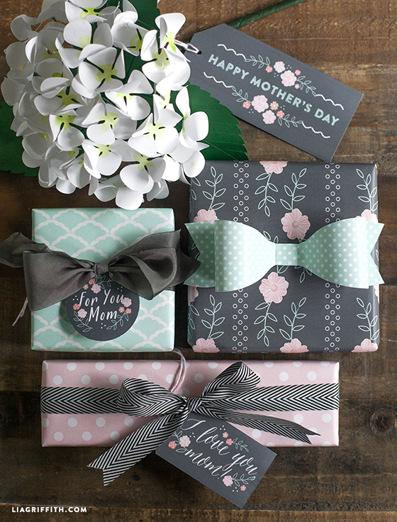 Mother's Day Gift Tags and Gift Wrap Printable