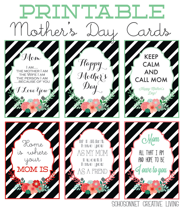 Mother's Day Printable Greeting Cards