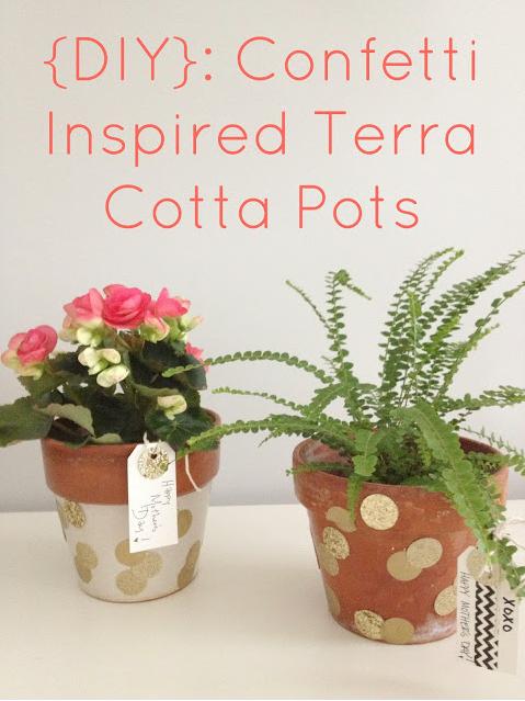 DIY Confetti Inspired Terra Cotta Pots