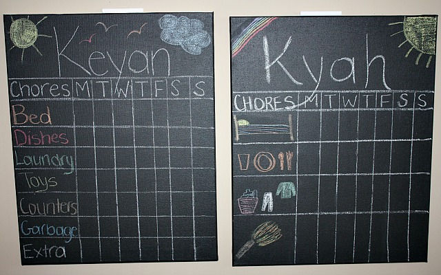This DIY Chalkboard Chore Chart will help your kiddos keep track of their To Do's and help you reward them for their great work