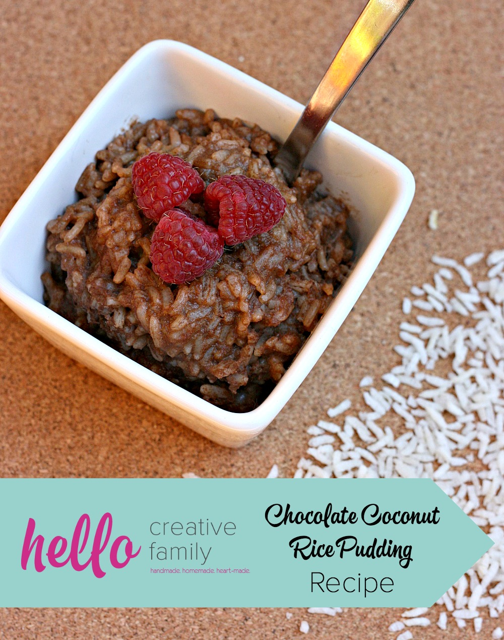 This delicious chocolate coconut rice pudding is cooked using homemade chocolate coconut milk and takes less than 20 minutes to make