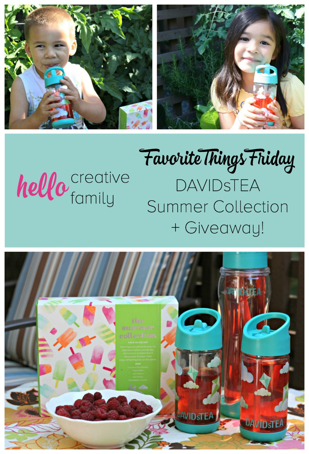 Hello Creative Family Favorite Things Friday- DAVIDsTEA Summer Collection + Giveaway