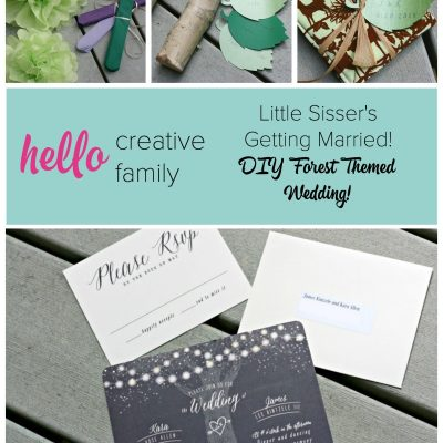 Creating a DIY Forest Themed Wedding for Little Sisser's Special Day