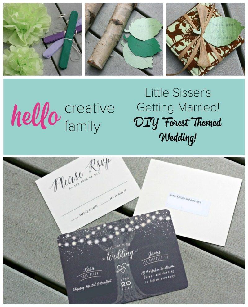 Diy Wedding Invitations Pinterest: Creating A DIY Forest Themed Wedding For Little Sisser's
