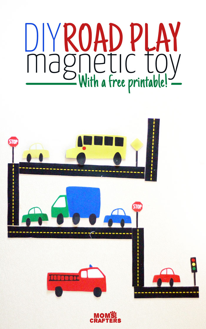How to make a DIY Car Magnet Set For Hours of Fun For Car Loving Boys and Girls