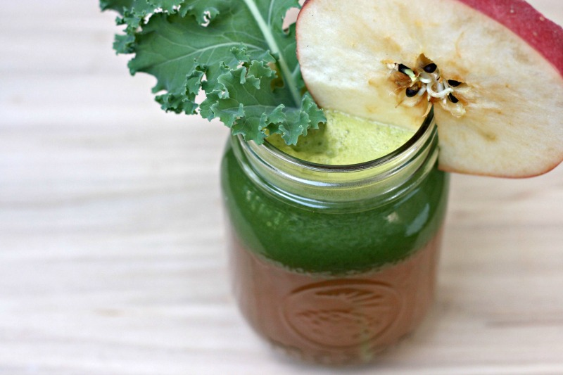 Kale apple ginger juice recipe inspired by Joe Cross from Fat, Sick & Nearly Dead and the Reboot Juicing Diet