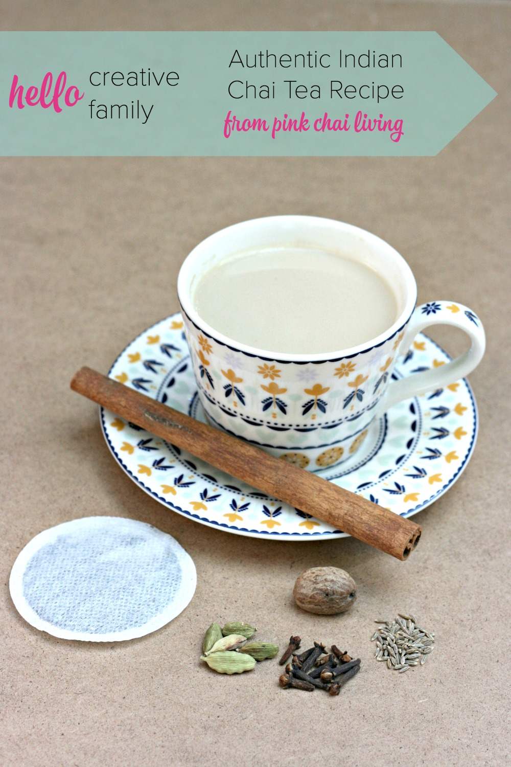 Looking for the perfect cup of chai tea Check out this authentic North India Masala Chai Tea Recipe. It's simple and delicious!
