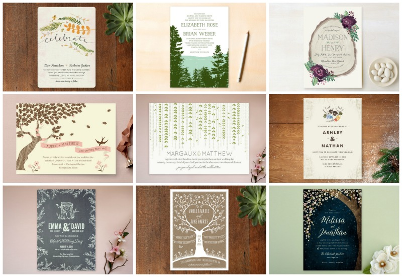 Woodland Forest Wedding Themed Invitations From Minted