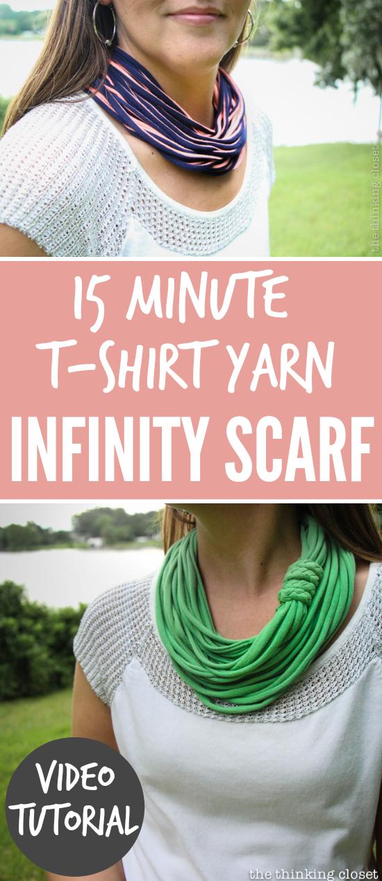 15 Minute TShirt YarnScarf
