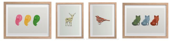 Animal art prints from JENNIFER MOREHEAD for Minted