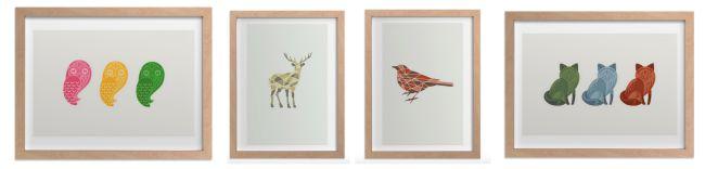 Animal art prints from JENNIFER MOREHEAD for Minted