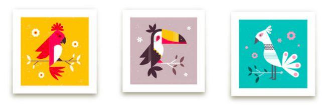 Birds of a Feather Art Prints by Kristen Smith for Minted