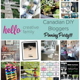 Canadian DIY Bloggers Pinning Party
