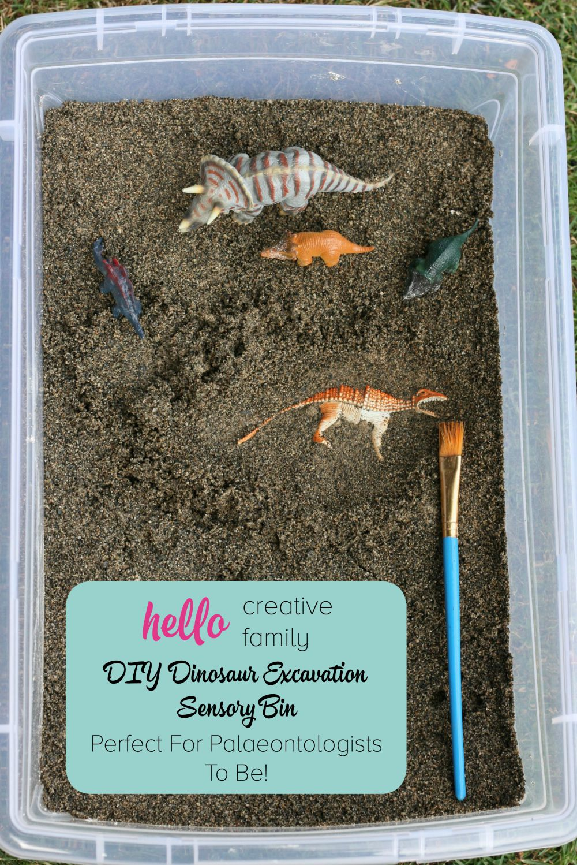 DIY Dinosaur Excavation Sensory Bin Perfect For Palaeontologists To Be!