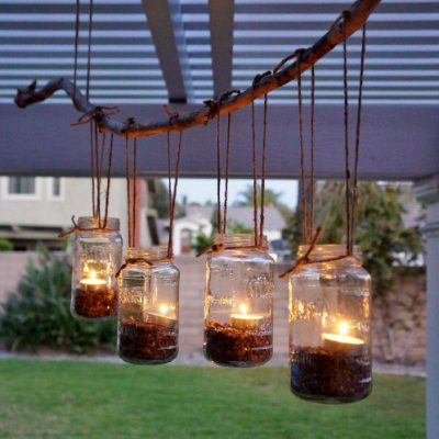 Easy DIY Mason Jar Chandelier Project- HCF Craft of the Week