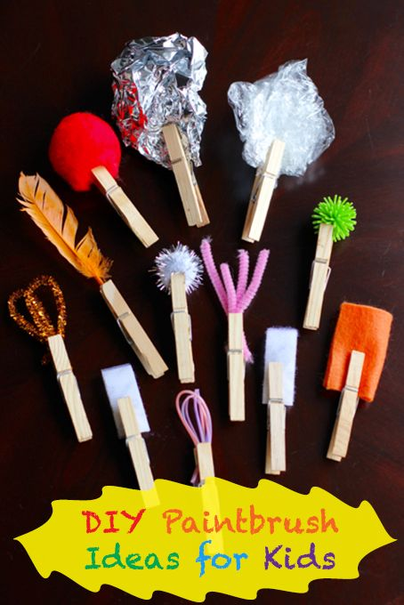 DIY Paint Brushes For Kids