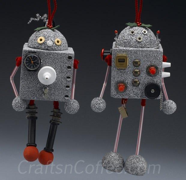 DIY Robot Christmas Ornaments