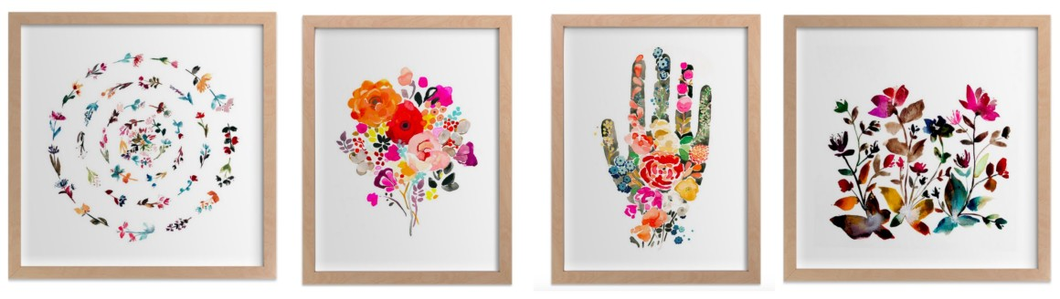 Flower art prints from Minted