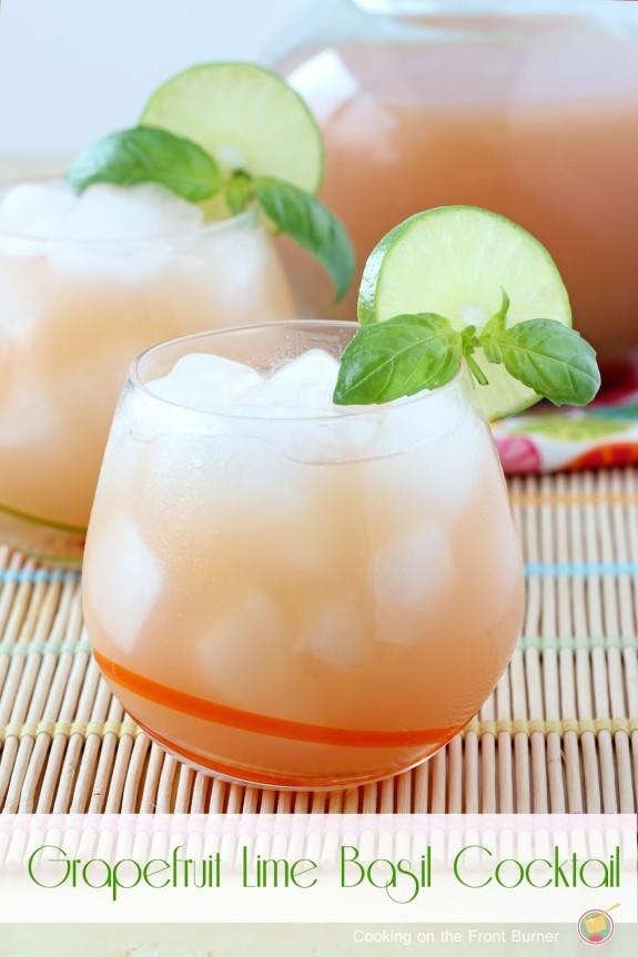 Grapefruit-Lime-Basil-Cocktail