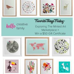 Favorite Things Friday- Exploring The Minted Art Marketplace + Win a $50 Gift Certificate