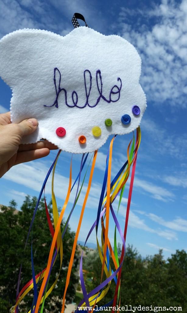 Hello Happy Cloud Rainbow Hanger