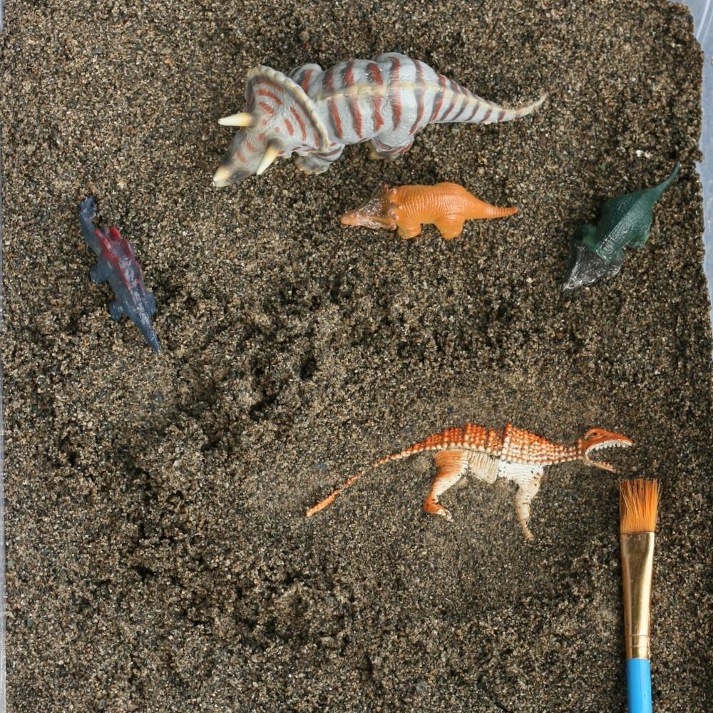DIY Dinosaur Excavation Sensory Bin