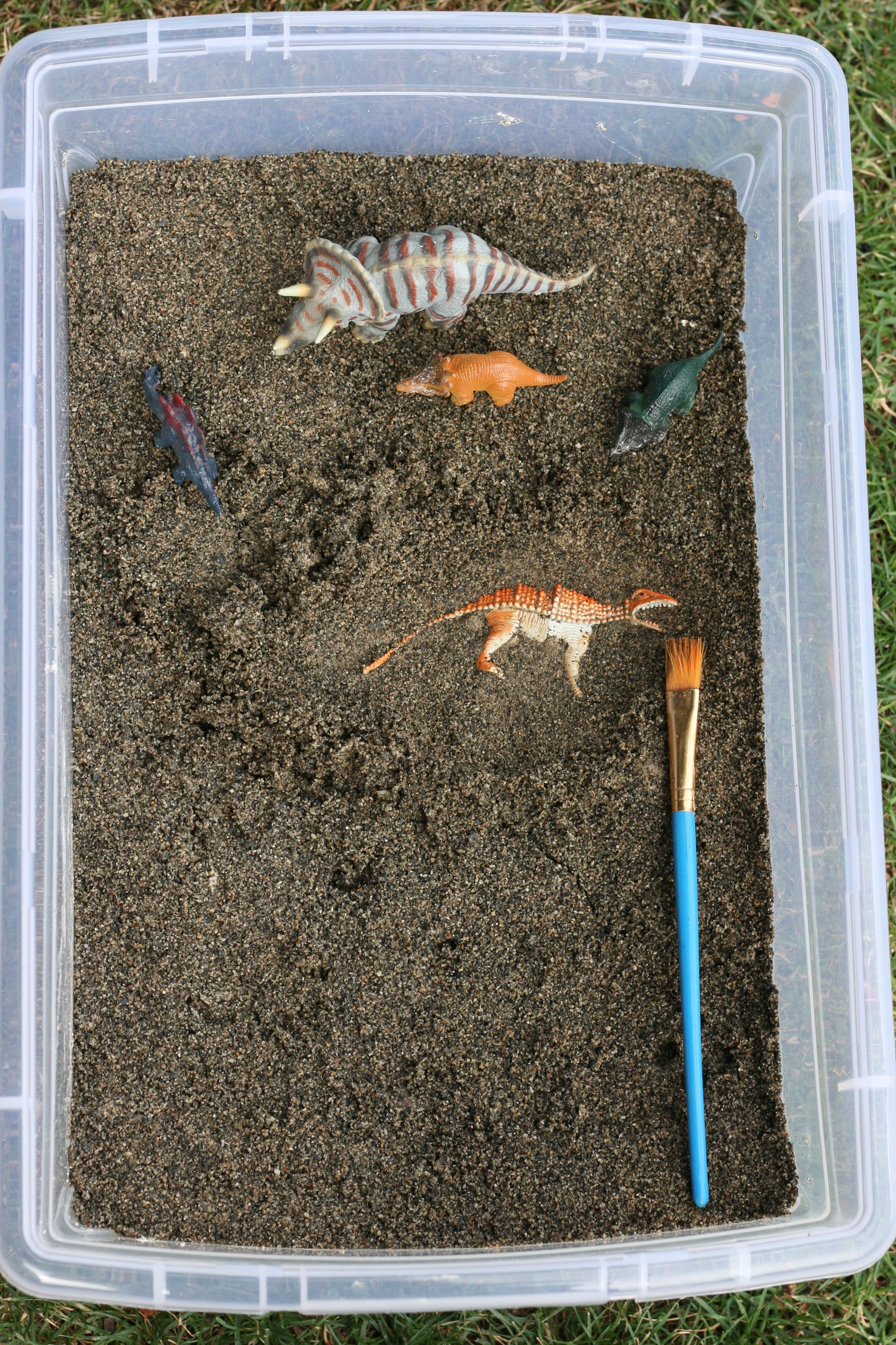 DIY Dinosaur Excavation Sensory Bin
