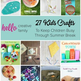 Looking for tons of great kids craft ideas to keep children busy over summer break Here is a great list of kid's projects from some of the best craft bloggers around!
