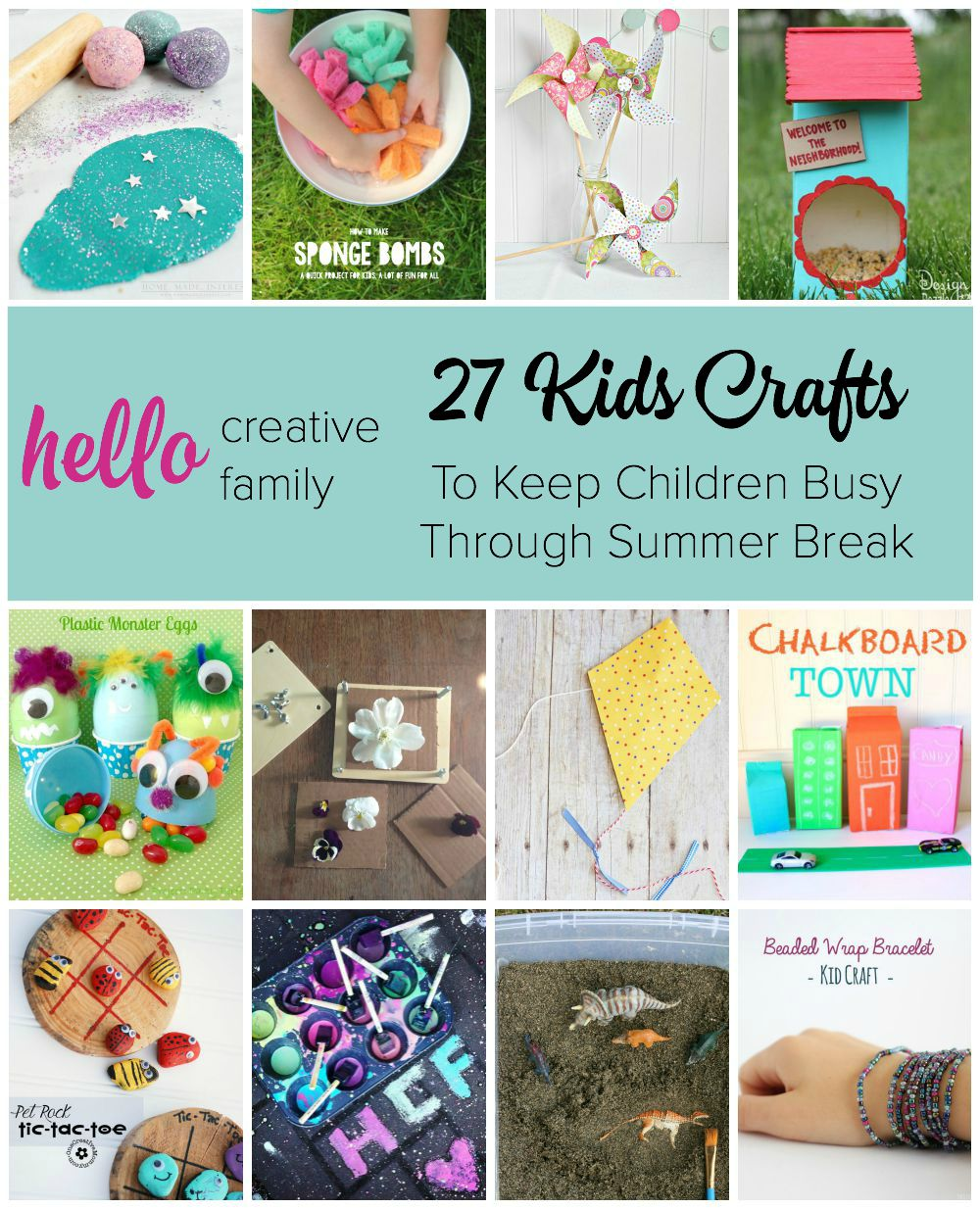27 Kids Crafts to Keep Children Busy Through Summer Break  Hello Creative Family
