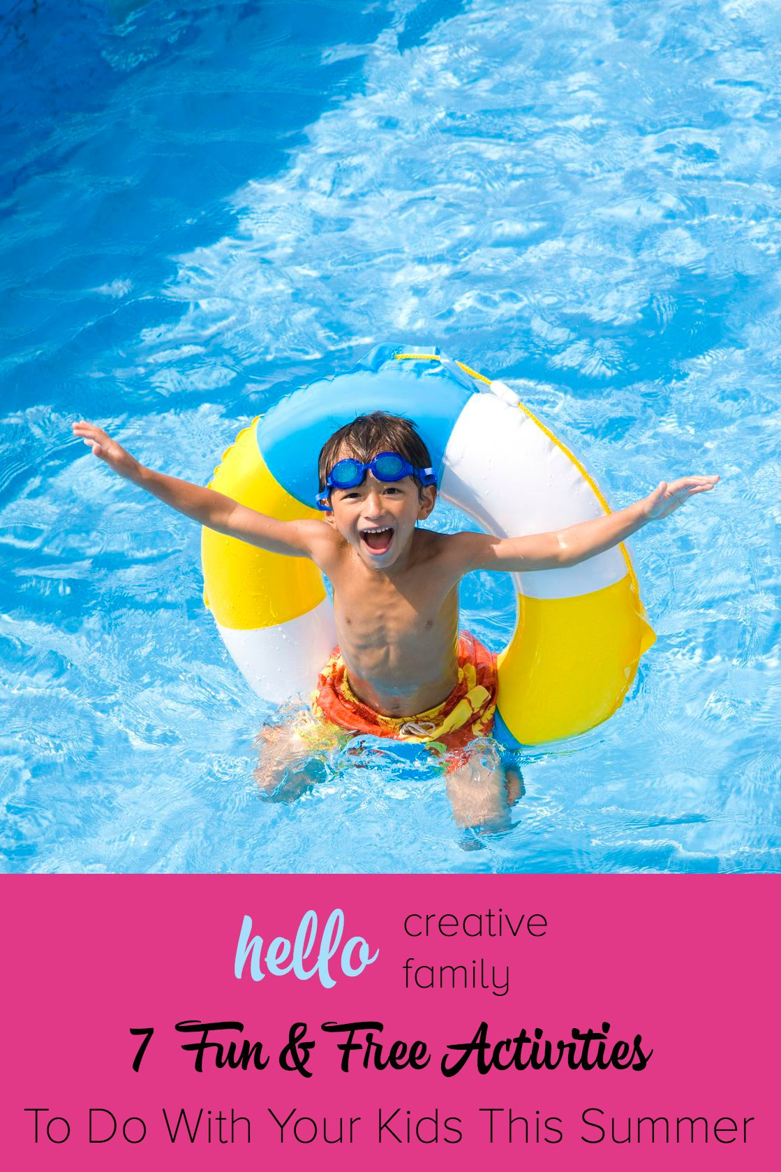 Looking for ways to spend your summer days with the kids Here are 7 Fun and Free Activities To Do With Your Kids This Summer on Hello Creative Family.com