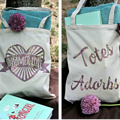 Totes Adorbs Book Bag and Summer Love Beach Bag Made On the Cricut Explore