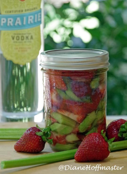 Strawberry Rhubarb Fizz