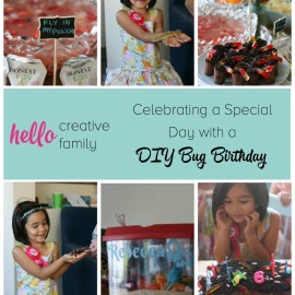 Celebrate your bug crazy kiddo's special day with these easy DIY Bug Birthday ideas