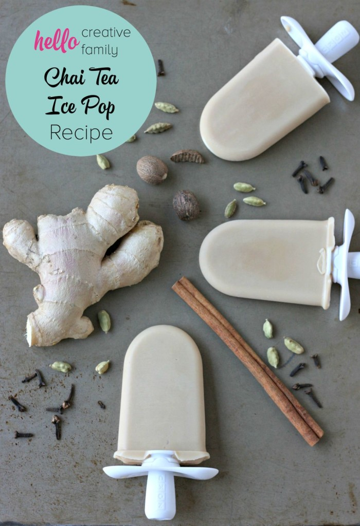Creamy, sweet, spicy and delicious, this chai tea ice pop recipe is perfect for a hot summer day! A yummy grownup treat!