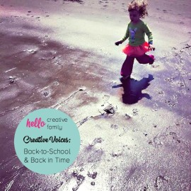 Hello Creative Families Creative Voices continues with Back-to-School and Back in Time by Karen Bannister