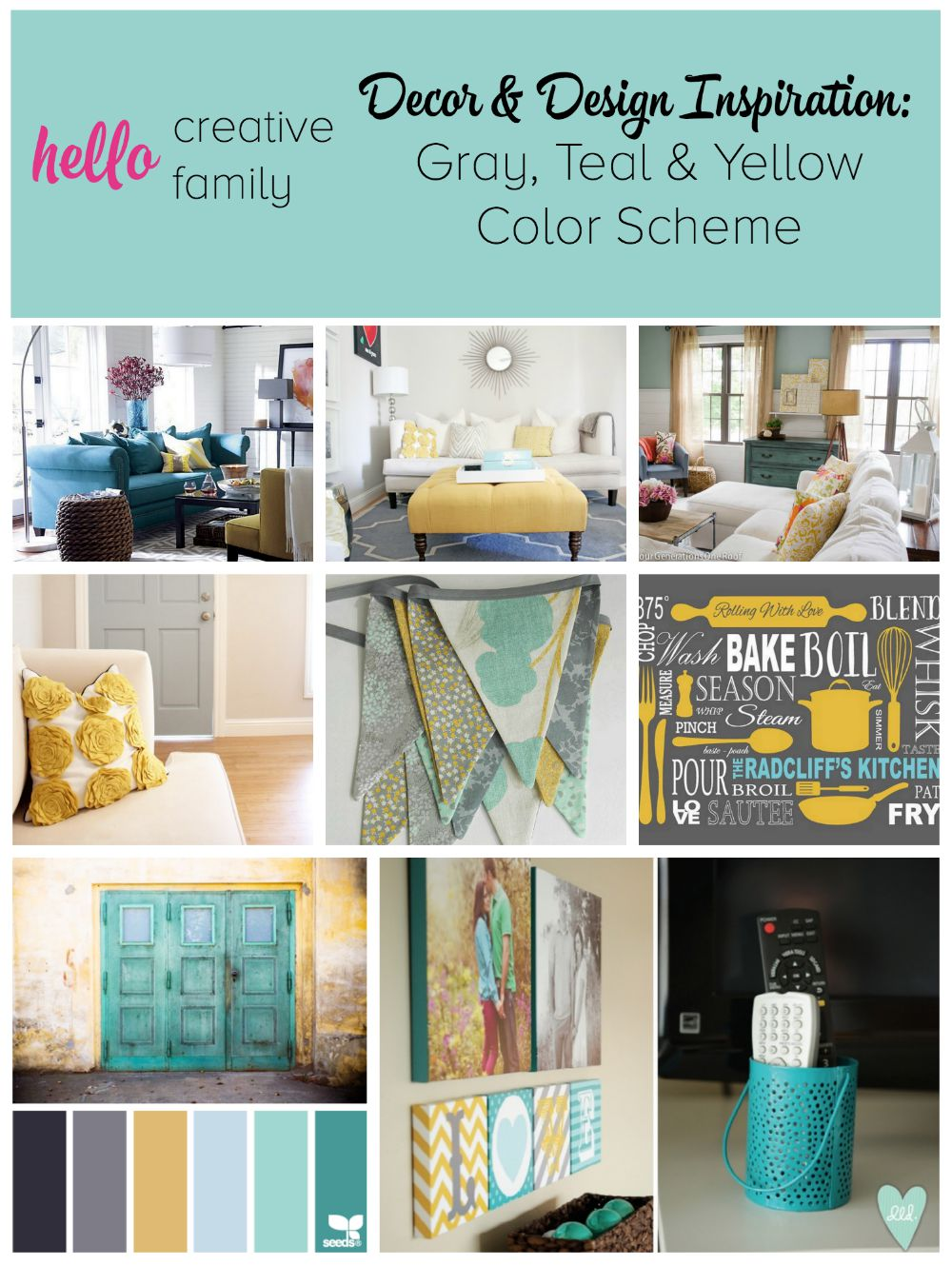 Design Yellow Color Schemes gray teal and yellow color scheme decor inspiration design scheme