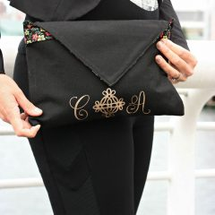 How To Update A Clutch Purse With Gold Glitter Monogram