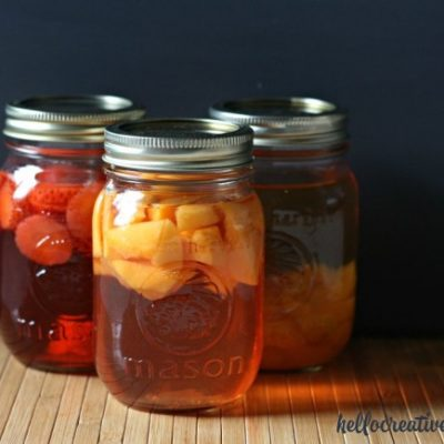DIY Fruit Flavored Vinegar- Think Ahead Handmade Gift Ideas Series