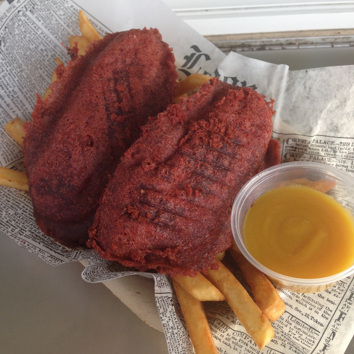 Red Velvet Chicken Strips from Pub Grub