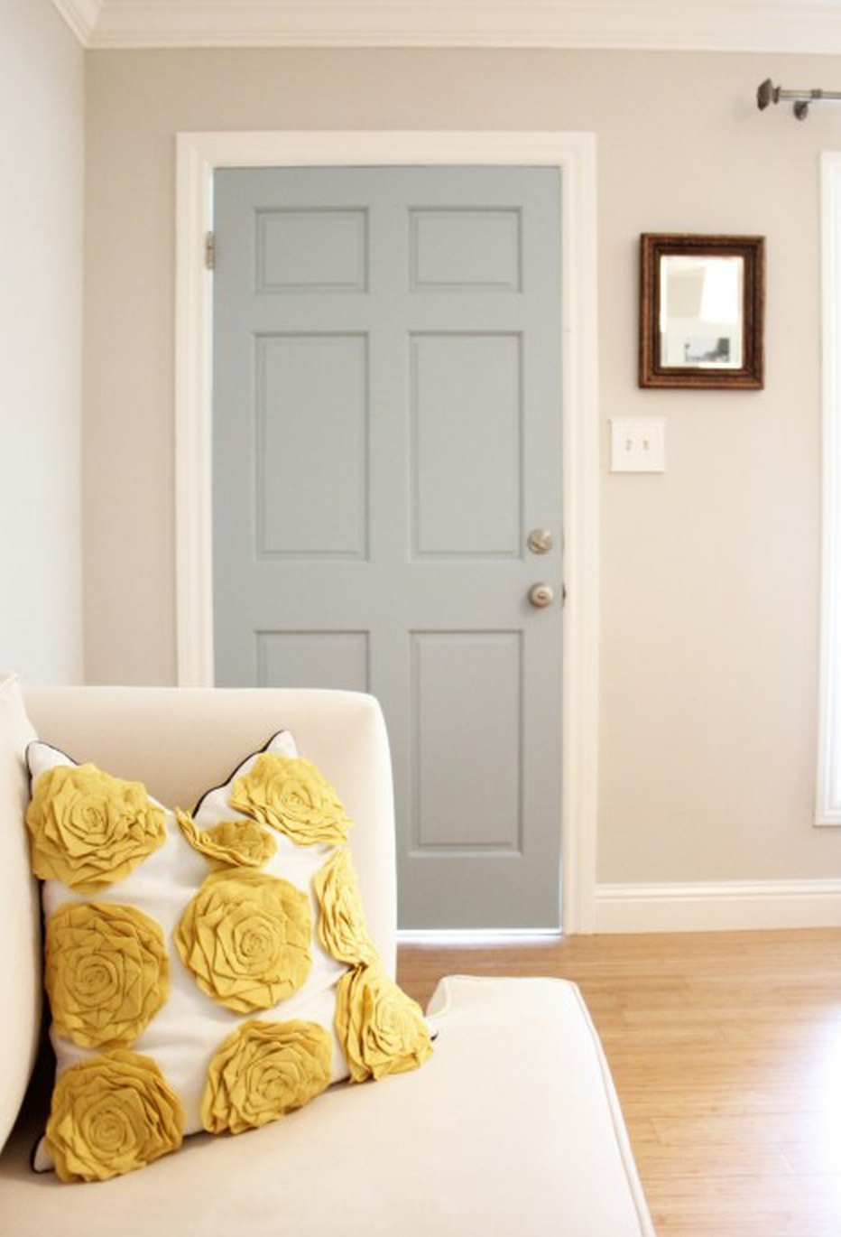 Gray teal and yellow color scheme decor inspiration for Different yellow paint colors